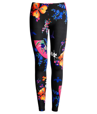 Versace floral leggings