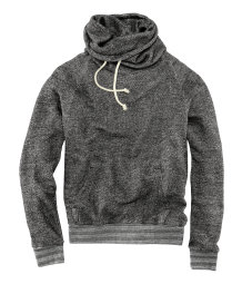 Sweatshirt with funnel collar