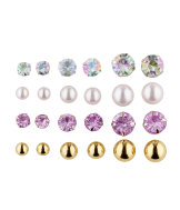 Boucles d'oreille, lot de 12