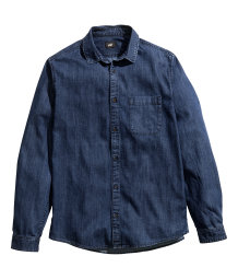 Thin denim shirt