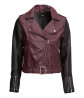 Imitation leather biker jacket