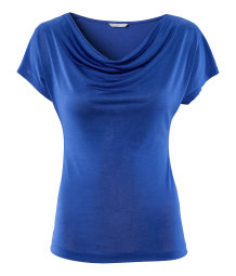 Top with draped neckline