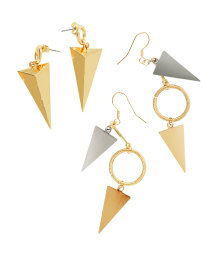 2 pairs earrings