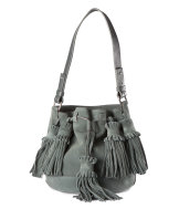 Suede bag with tassels