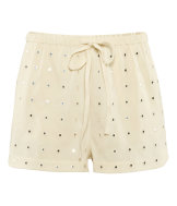 Shorts with mirror embroidery