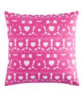 Cushion cover with a print