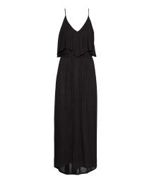 Maxi dress with a frill