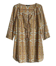 Paisley-patterned satin dress