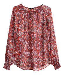 Paisley-patterned blouse