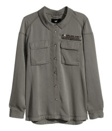 Lyocell shirt jacket