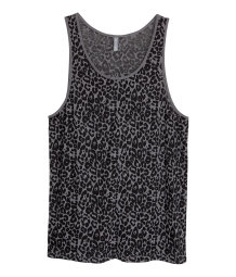 Tank Top with Burnout Pattern