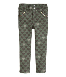 Trousers with rivets & sparkle