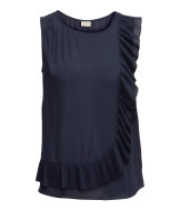 Top with a pleated frill