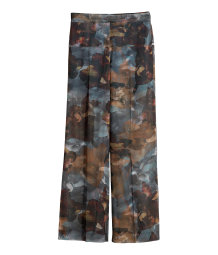 Wide chiffon trousers