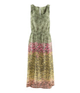 Sleeveless patterned dress