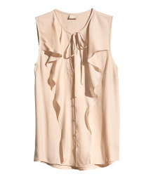 Sleeveless Blouse with Ruffles