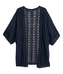 Pattern-knit cardigan