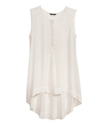Sleeveless chiffon blouse