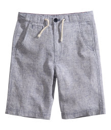 Shorts in a linen blend