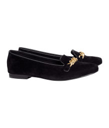 Imitation suede loafers