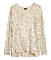 Fine-knit oversized jumper