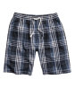 Checked Pajama Shorts