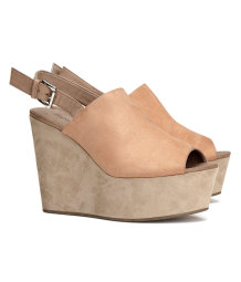 Platform shoes with a wedge