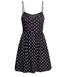Short patterned dress