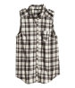 Sleeveless flannel shirt