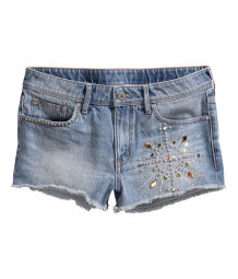 Short court en denim