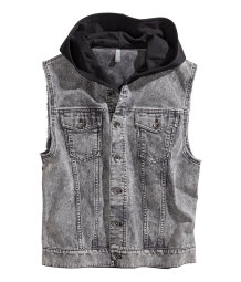 Veste en denim sans manches