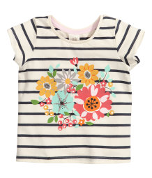 Short-sleeved Top with Print