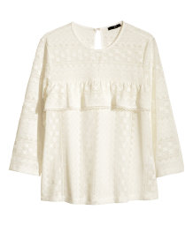 Lace top with a frill