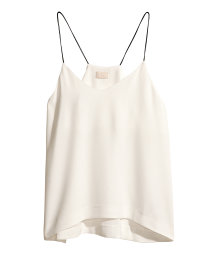 Top with thin shoulder straps