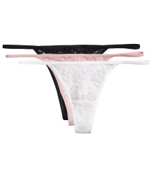 3-pack lace string briefs