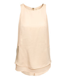 Sleeveless Satin Top