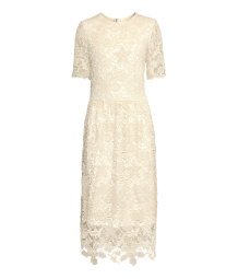 Ankle-length lace dress