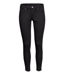 Stretch ankle-length trousers