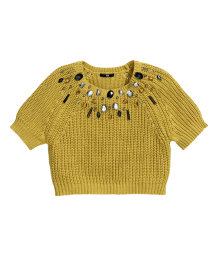 Jumper with beaded embroidery