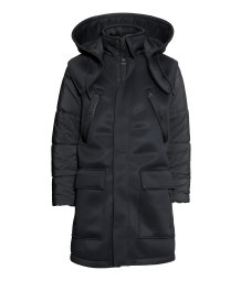 Parka with a down gilet