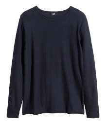Fine-knit jumper