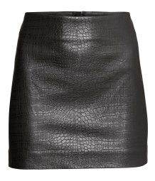 Skirt in imitation leather