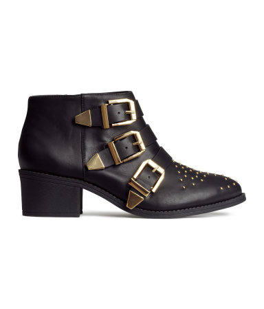 Studded Ankle Boots | Black | Women | H&M US