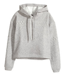 Textured hooded top