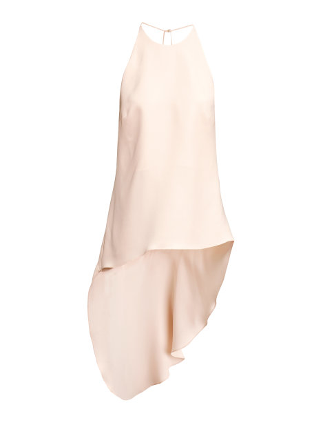 Draped blouse in mulberry silk