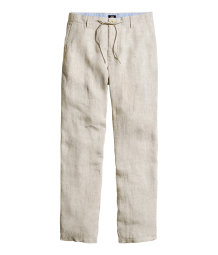 Trousers in a linen blend