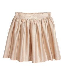 Skirt in a linen blend
