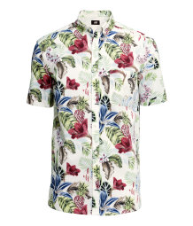 Short-sleeved cotton shirt
