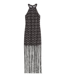 Fringed halterneck dress