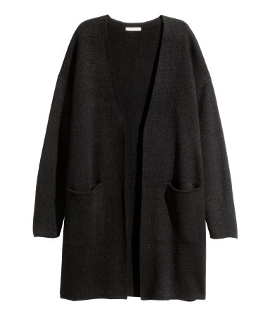 Long Cardigan | Black | SALE | H&M US